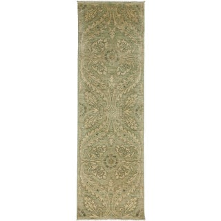 "New Oushak Hand Knotted Runner - 2'7"" x 8'4"""