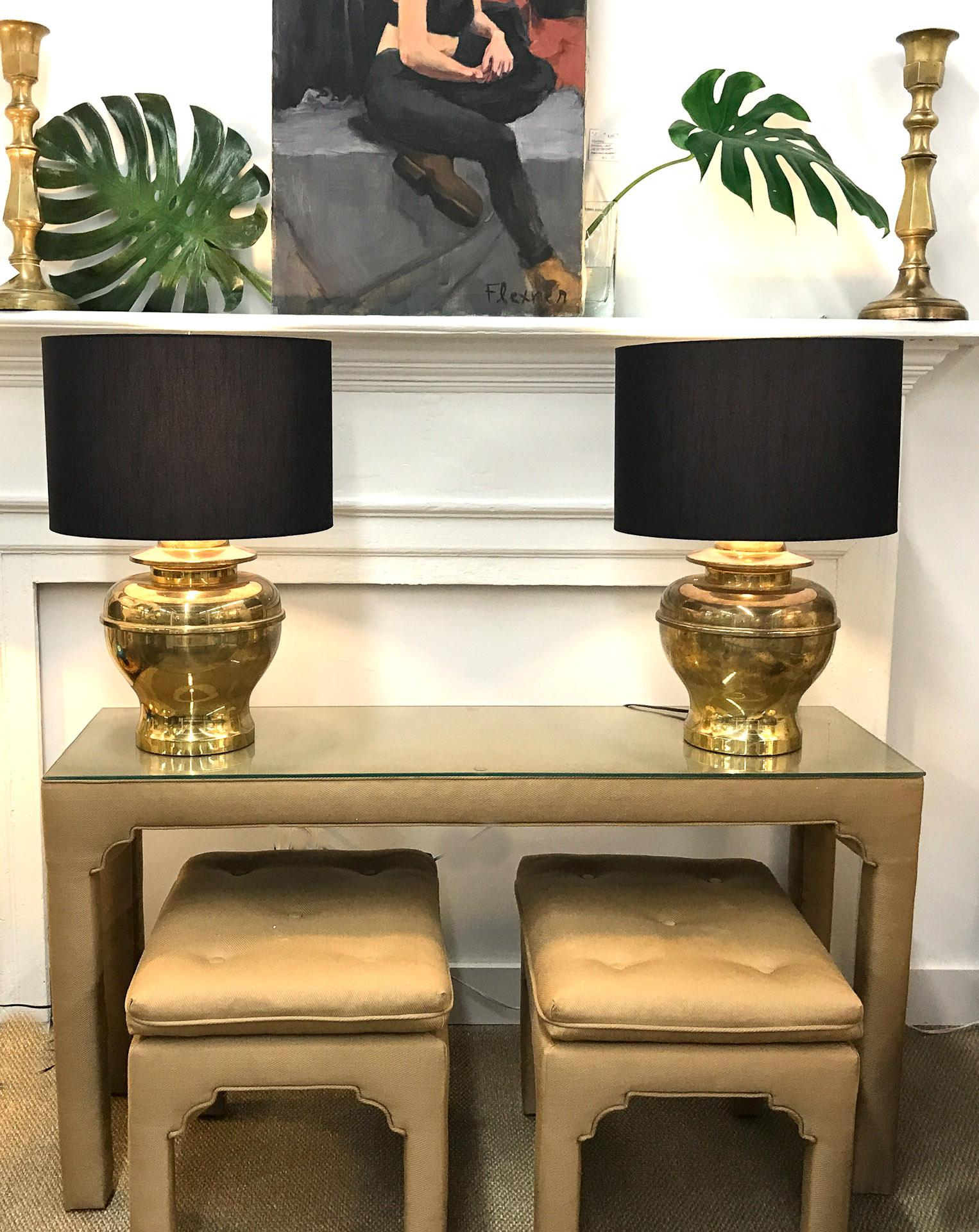 Mid Century Upholstered Parsonu0027s Style Console Table And Benches   Image 2  ...