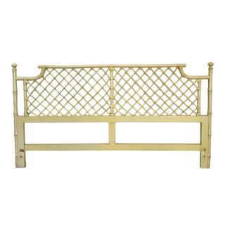 Ficks Reed Vintage Yellow Pagoda Bamboo King Headboard
