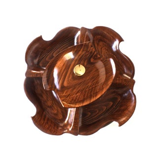 Vintage Faux Bois Serving Piece on Lazy Susan