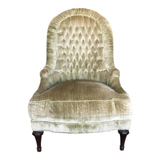 Vintage Upholstered Button Tufted Chair