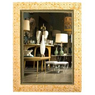 Paul Marra Suede & Velvet Mirror