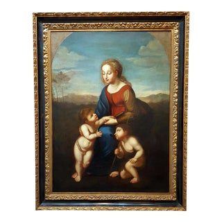Madonna With Child -17th Century Italian Old Painting