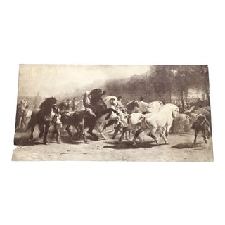 The Horse Fair by Rosa Bonheur Engraving
