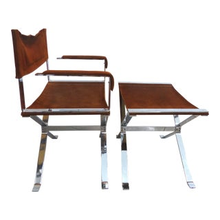 Alessandoro Albrizzi Chair & Ottoman Set