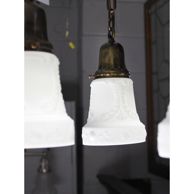 Embossed Flush Mount Light Fixture (4-Light) - Image 6 of 7