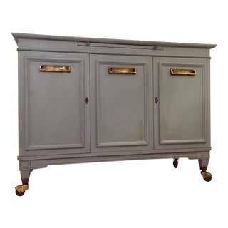Chalk Painted Solid Wood Bar