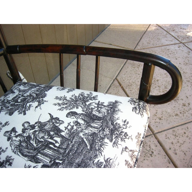 Black French Country Style Bamboo Chairs - Pair - Image 10 of 11