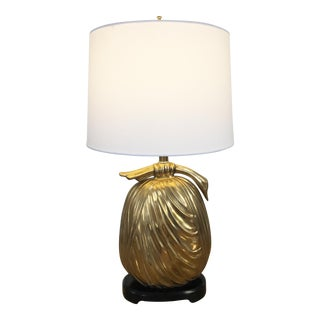 Mid-Century Brass Asian Style Bundle Table Lamp