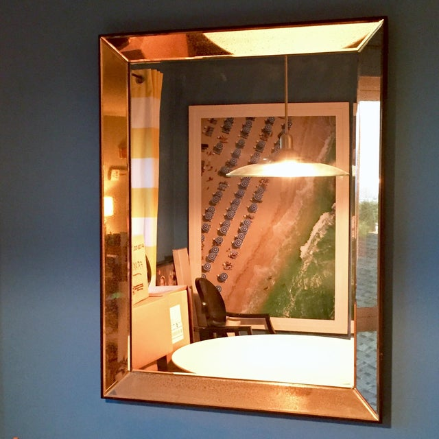 Beveled Glass Art Deco Wall Mirror - Image 2 of 6