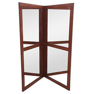 French Mirrored Screen Divider