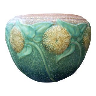 Roseville Sunflower Jardiniere Vase