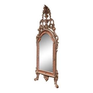Mid-Century Italian Carved Silver Leaf Mirror