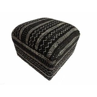 Black & White Mud Cloth Ottoman