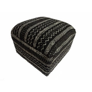 Black & White Mud Cloth Ottoman