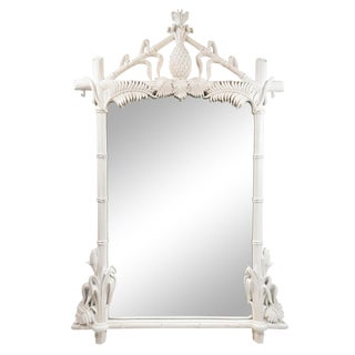 Gampel Stoll Faux Bamboo Wall Mirror