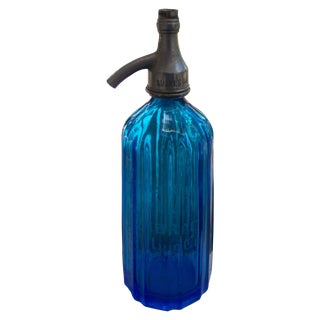 Optic Panel Cobalt Sapphire Seltzer Bottle