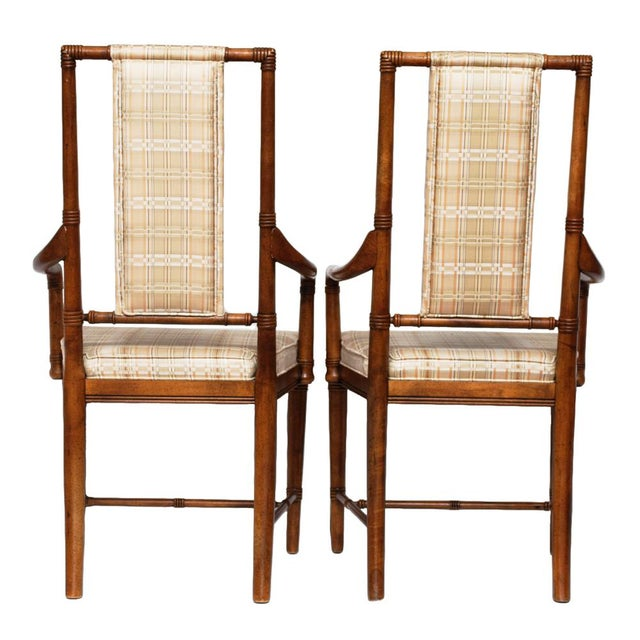 Pair of Vintage Hollywood Regency Armchairs by Drexel Heritage - Image 5 of 10