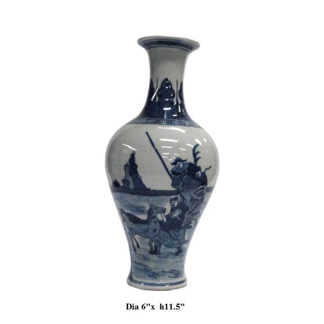 Chinese Blue White Porcelain Scenery Vase - Image 5 of 5