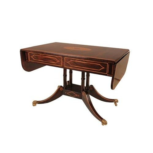 Image of Regency Style 2-Drawer Console/Sofa Table