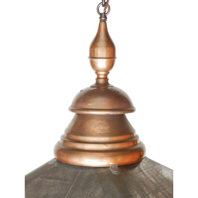 Large Copper and Zinc French Lantern - Image 7 of 8