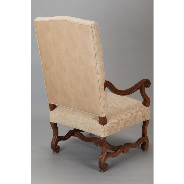 Antique Os Du Mouton Carved Armchairs - A Pair - Image 6 of 9