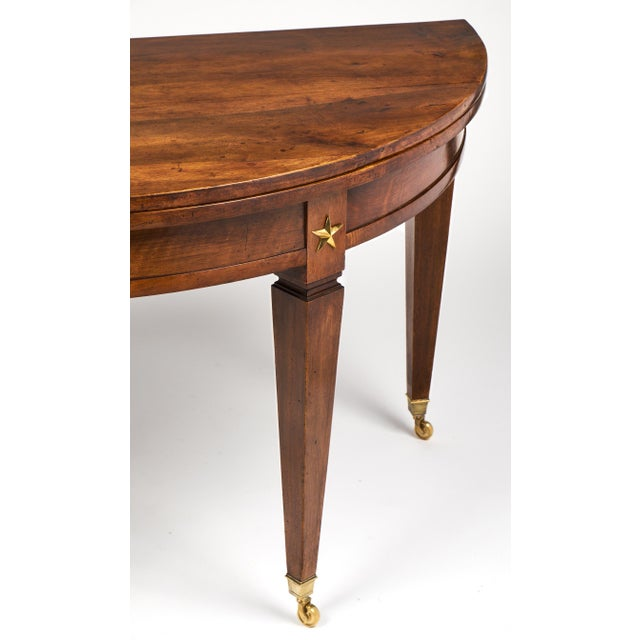 French Directoire Folding Demilune Table - Image 11 of 11