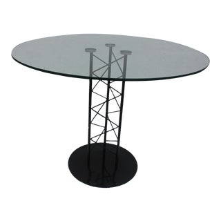 Italian Sculptural Pedestal Base Round Dining Table