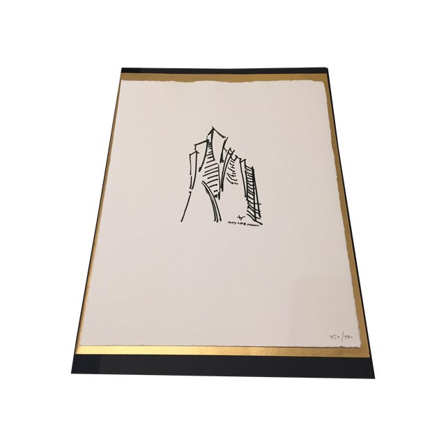Limited Edition Print of Daniel Libeskind Sketch - Image 1 of 3