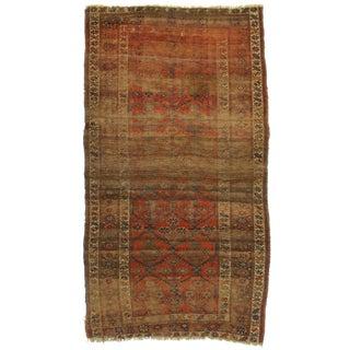 "Antique Persian Kurdish Bijar Wool Rug - 4'4"" x 7'"