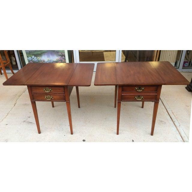 25724EC: HENKEL HARRIS Cherry Drop Leaf Coffee Table   eBay