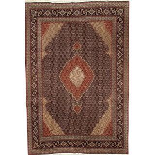 "Pasargad N Y Fine Persian Tabriz Fish Design Silk & Wool Pile Rug - 6'7"" X 9'6"""