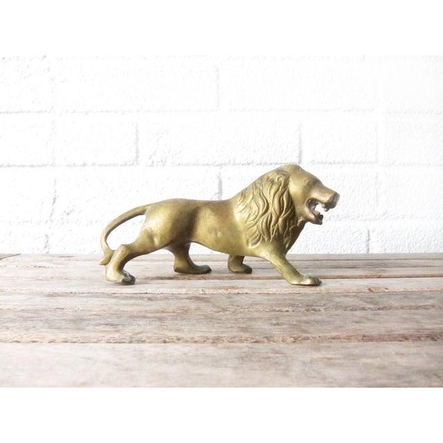 Image of Vintage Brass Lion