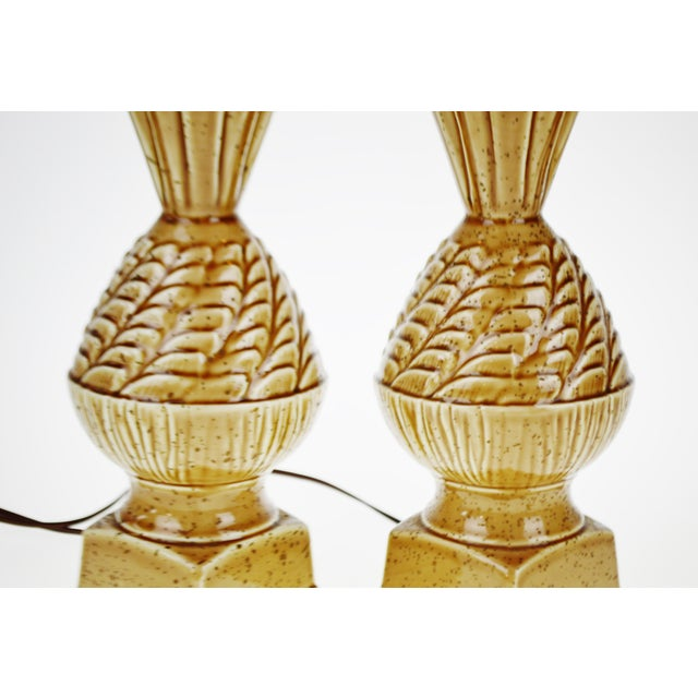 Vintage Ceramic Glazed Table Lamps - A Pair - Image 8 of 10