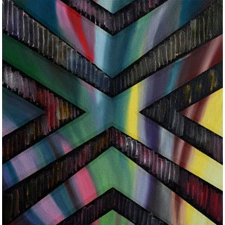 """""""Banderole"""" Mixed Media Painting"""