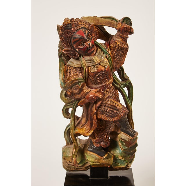 Pair of 20th Century Taiwanese Deity with Stand - Image 4 of 9