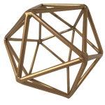 Image of Gold Metal Geometric Decor Piece