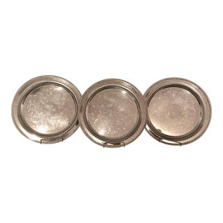 WM Rogers Silver Serving Trays - Set of 3