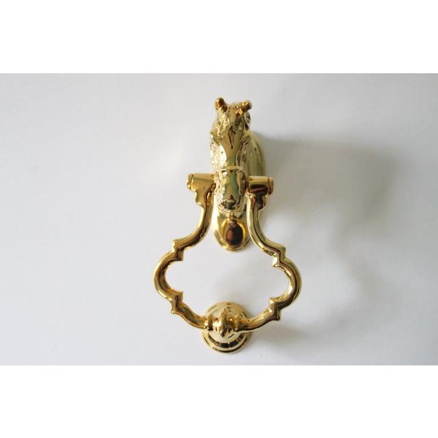 Brass horse head door knocker chairish - Horse head door knocker ...