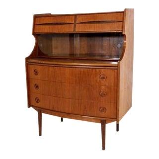 Danish Mid-Century Modern Teak Secretary Desk