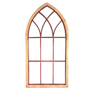Gothic Cathedral Style Arched Wall Mirror
