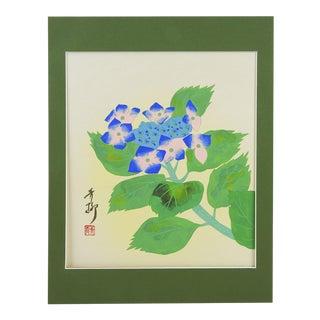 Japanese Hydrangea Block Print