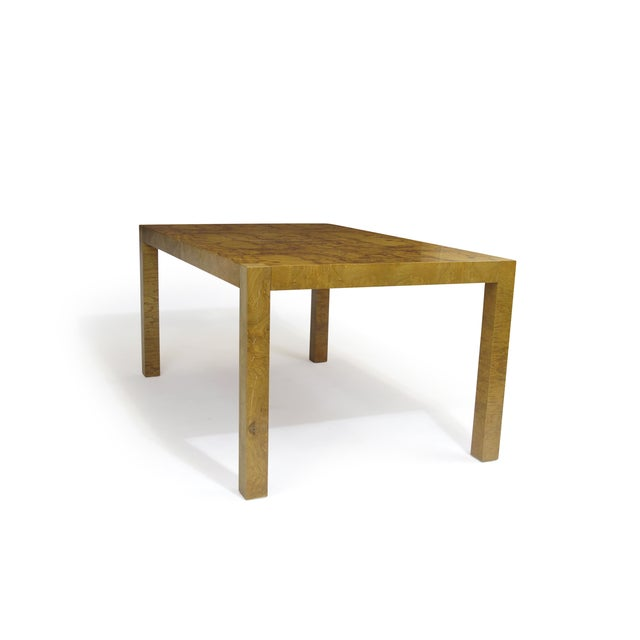 Burled Olive Parsons Dining Table - Image 5 of 9