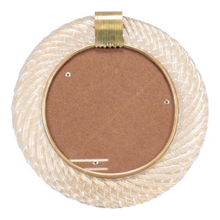 Barovier and Toso Round Glass Picture Frame