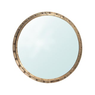 Brass Rivet Mirror Frame