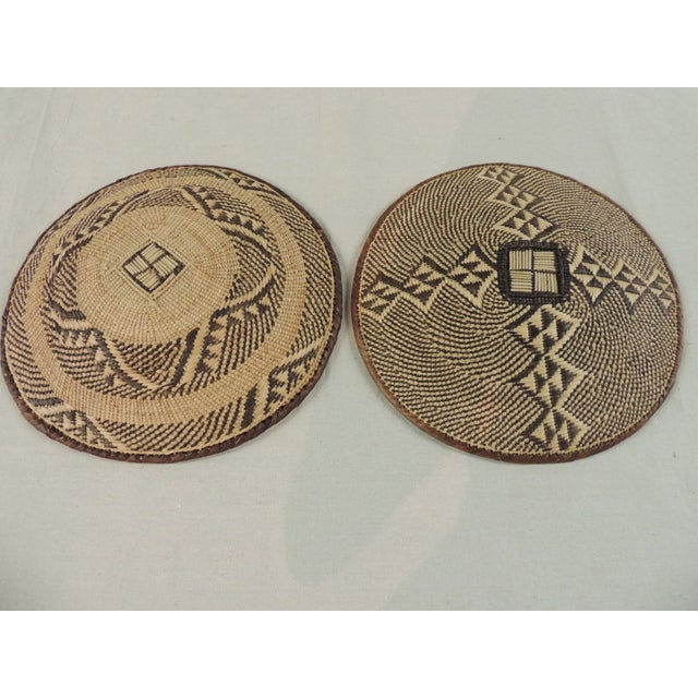 Vintage Tribal African Baskets - Pair - Image 3 of 3