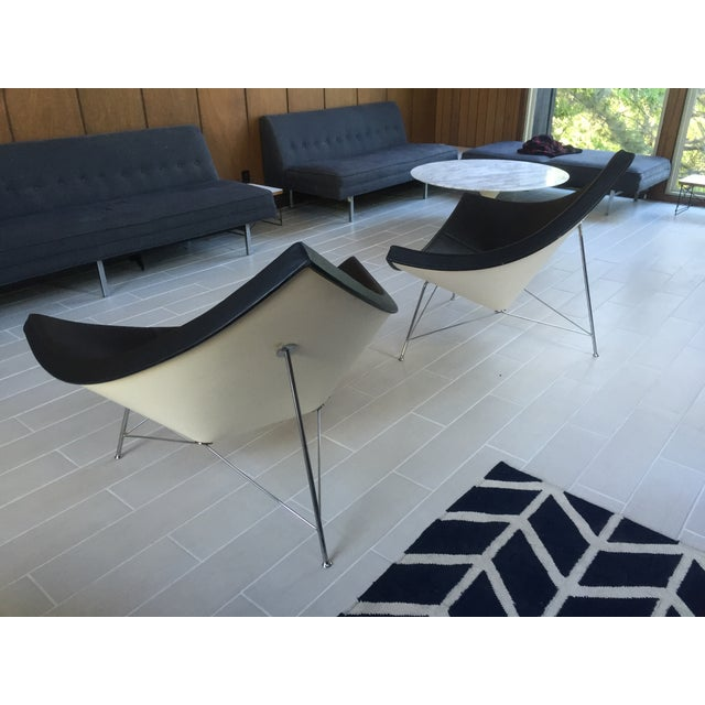 Image of George Nelson Leather Coconut Chairs by Vitra-Pair