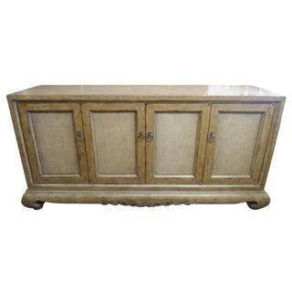 Marge Carson Rattan & Wood Sideboard