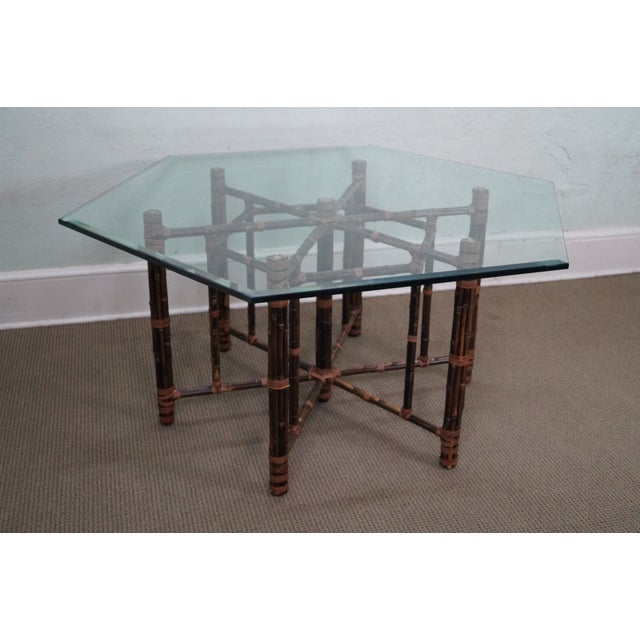 McGuire Rattan Dining Table - Image 2 of 10