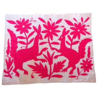Otomi Embroidered Folk Art - Pink